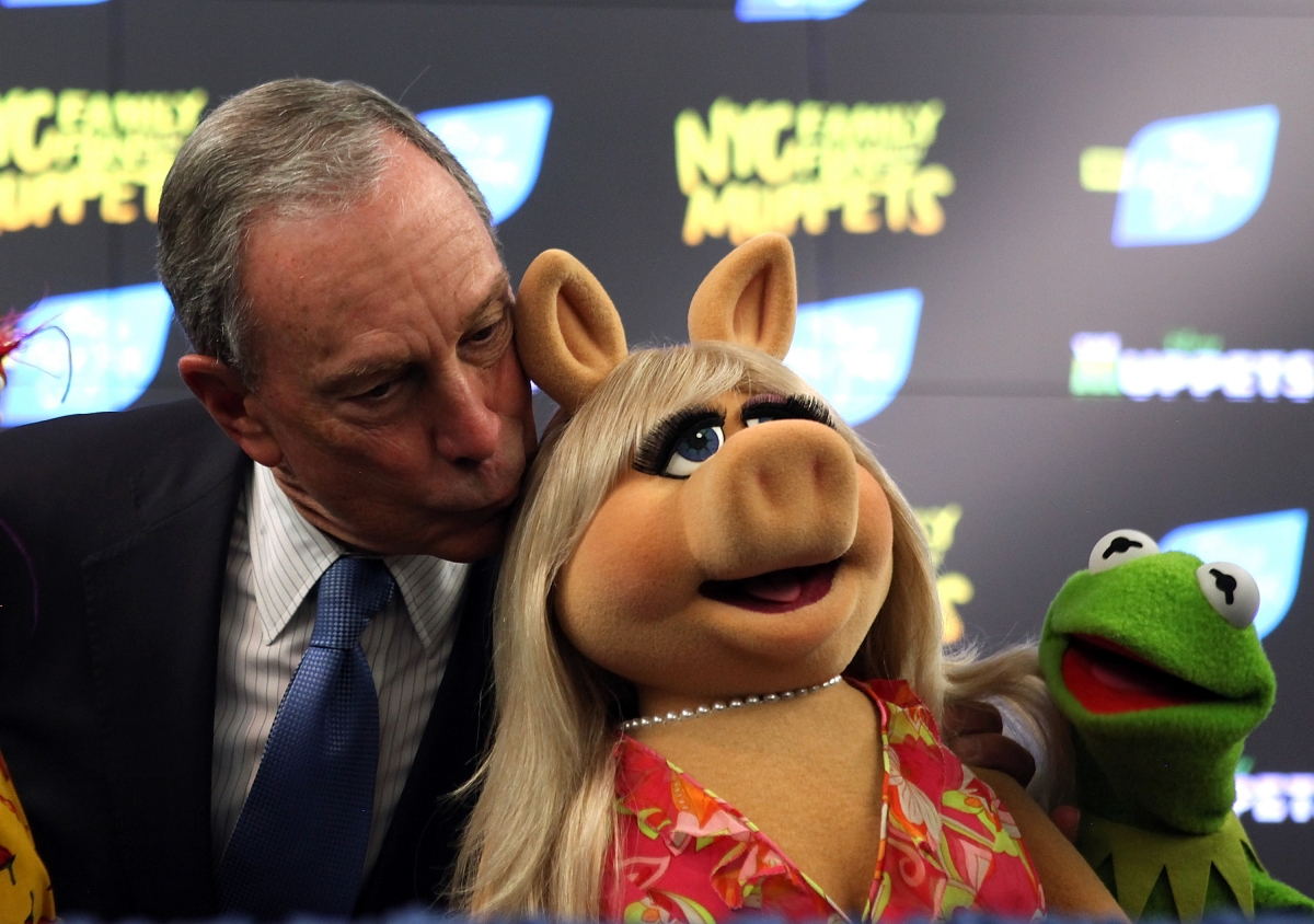 Michael Bloomberg and Miss Piggy