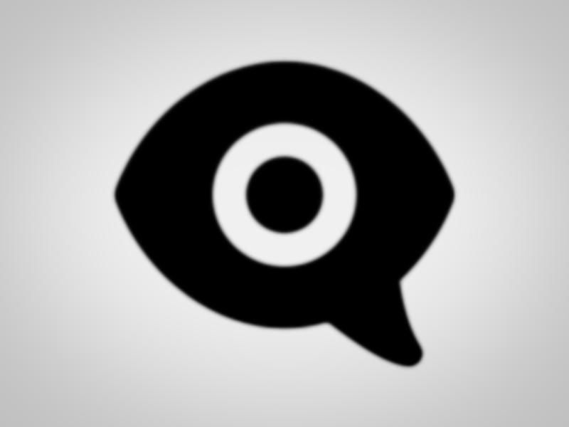 Apple eye speech bubble emoji