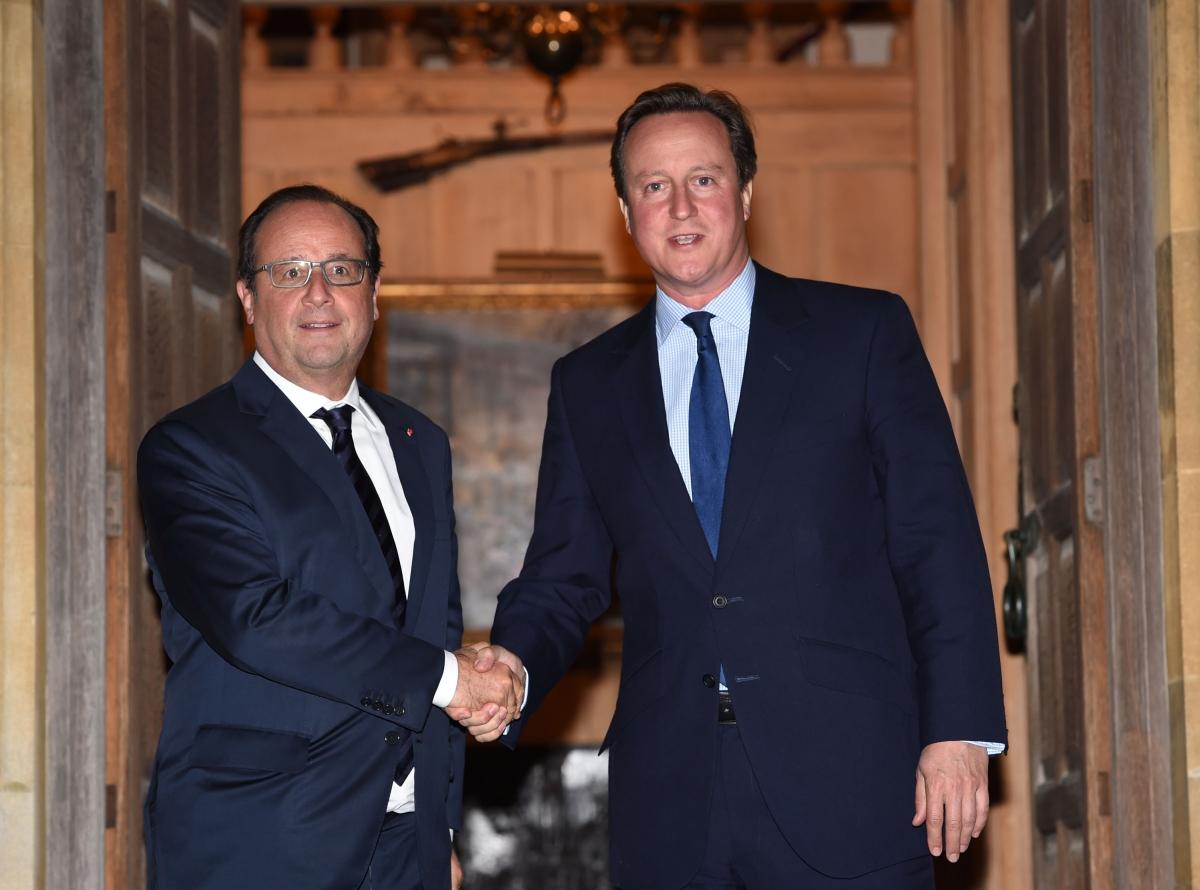 David Cameron welcomes Francois Hollande