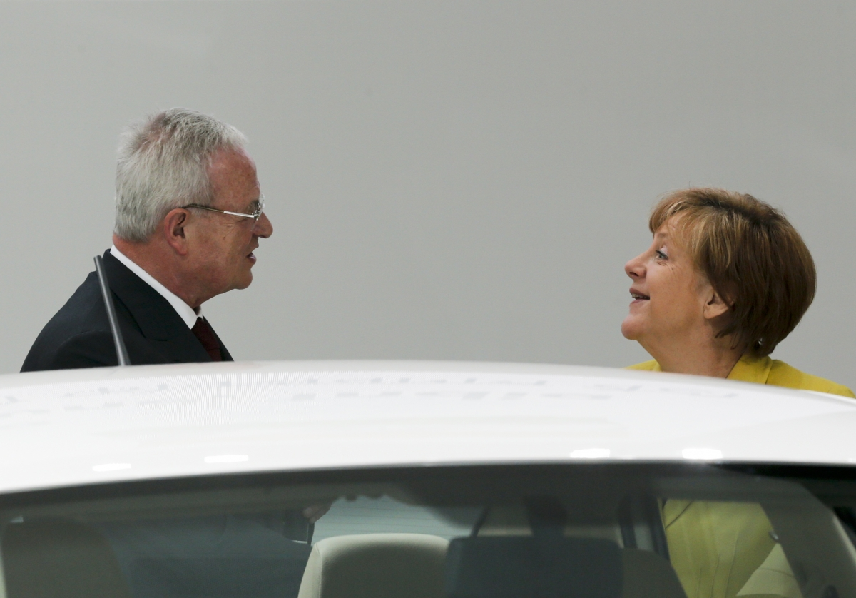 Martin Winterkorn & Angela Merkel