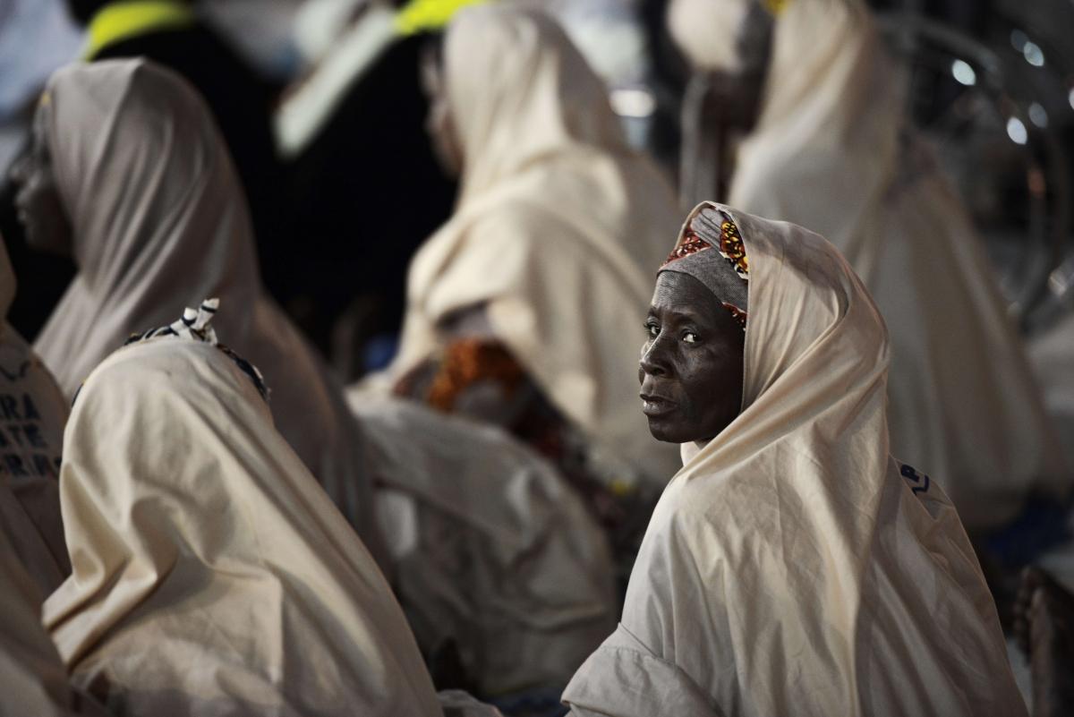 African pilgrim at Mecca