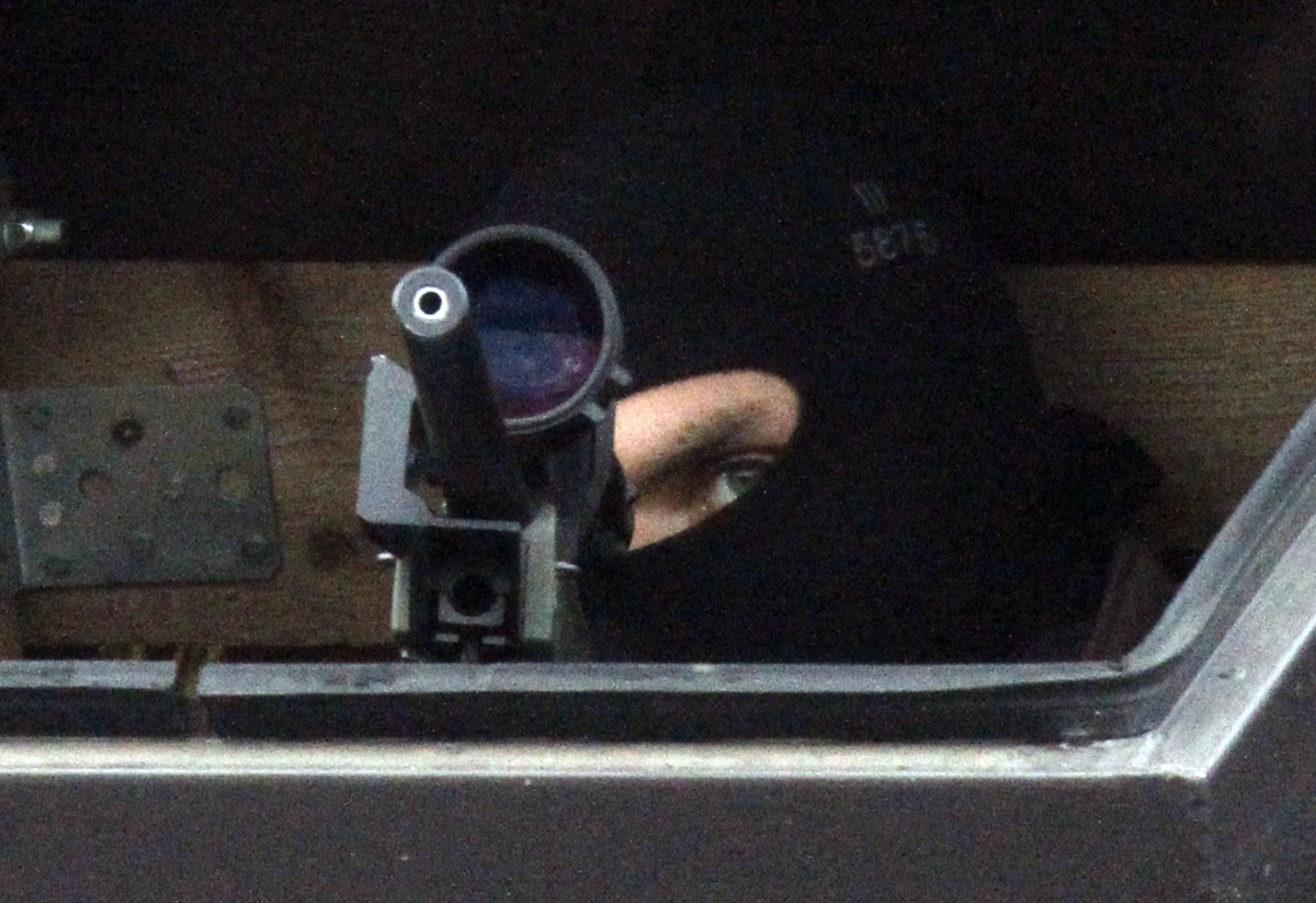 German police sniper