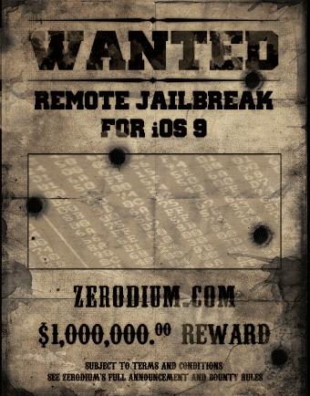 Zerodium $1m bug bounty reward