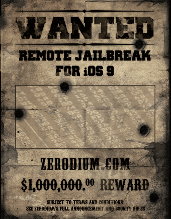 Zerodium $1m bug bounty reward
