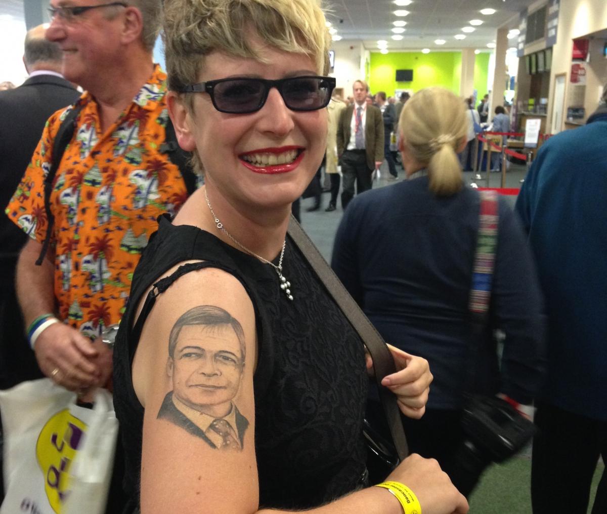 Nigel Farage tattoo