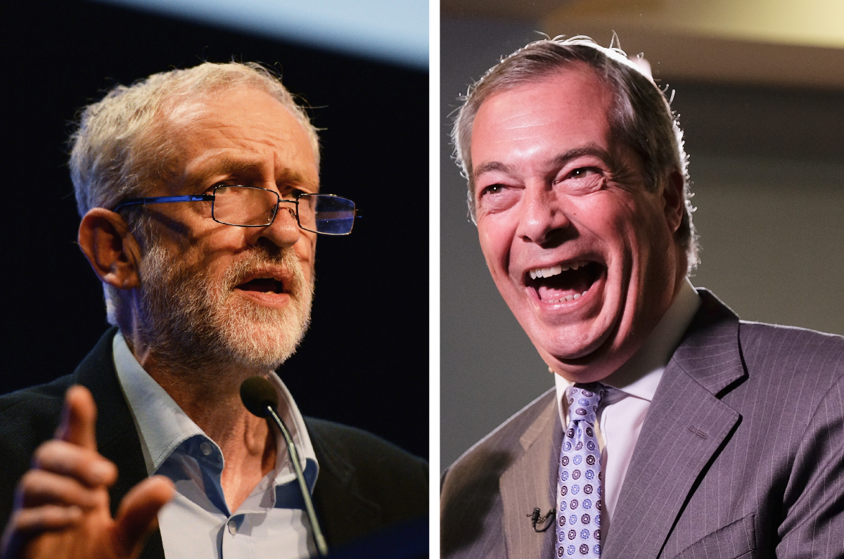Jeremy Corbyn Labour Ukip Nigel Farage