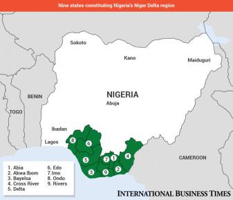Niger Delta map