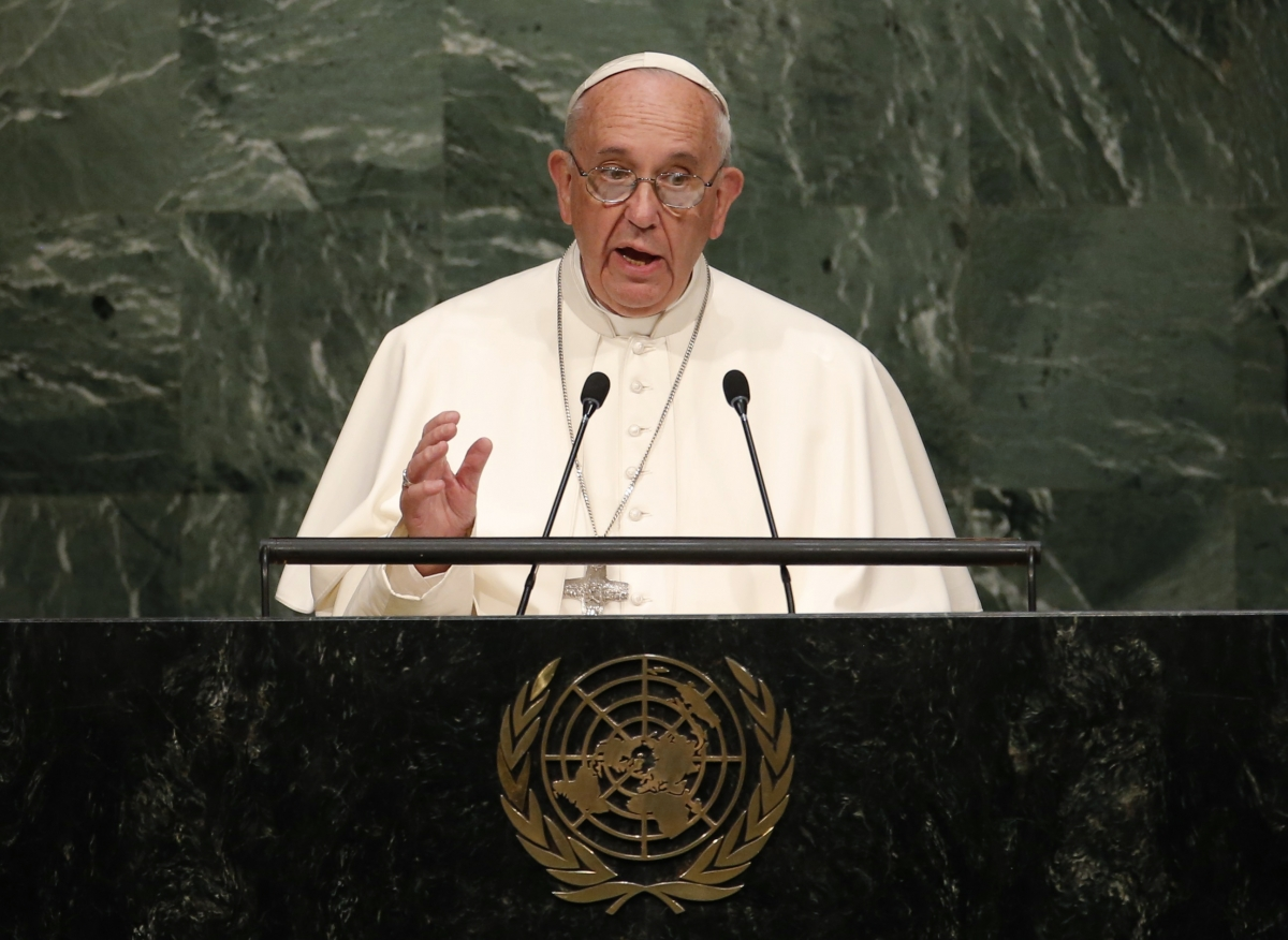 Pope Francis general assembly UN