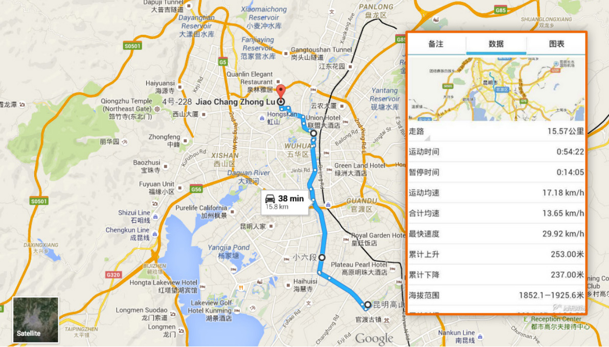 Chinese hacker Ge Xing's bike routes