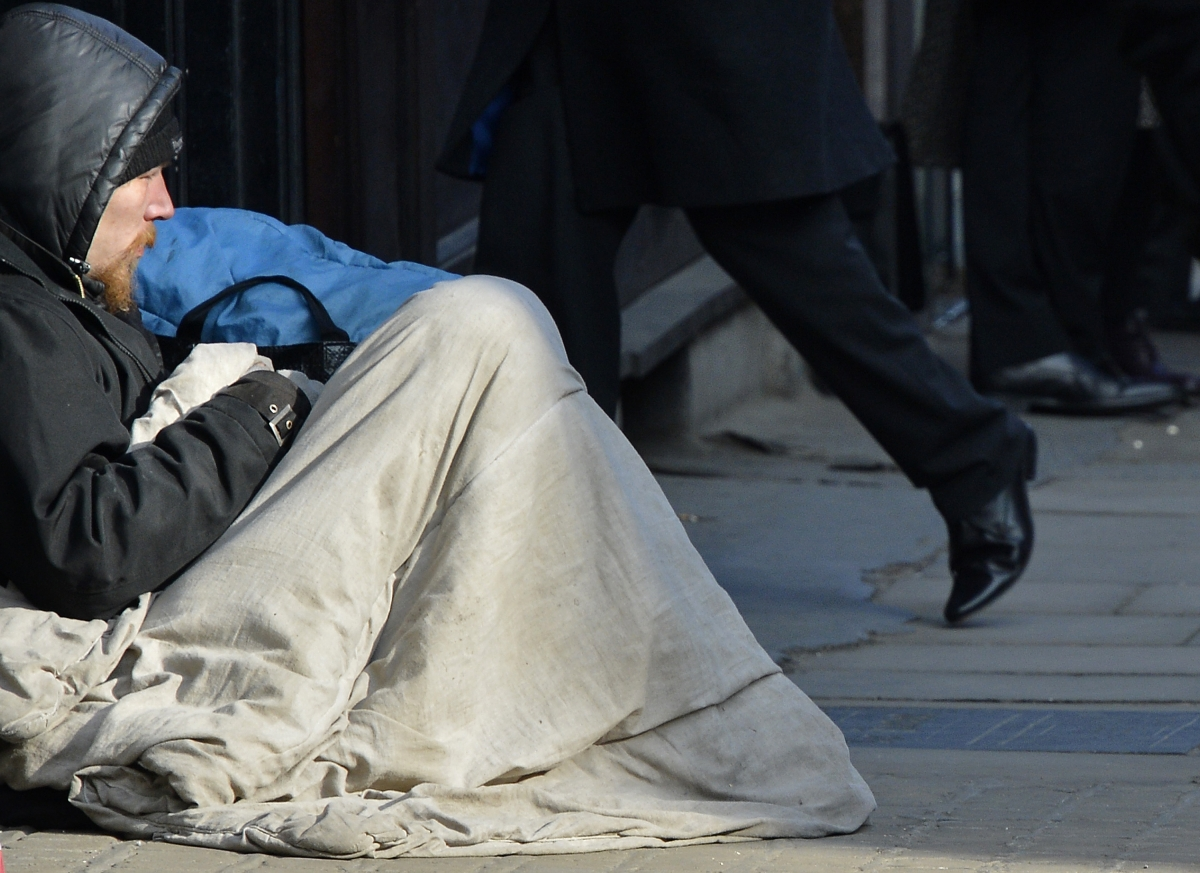 Homeless up 10% in London