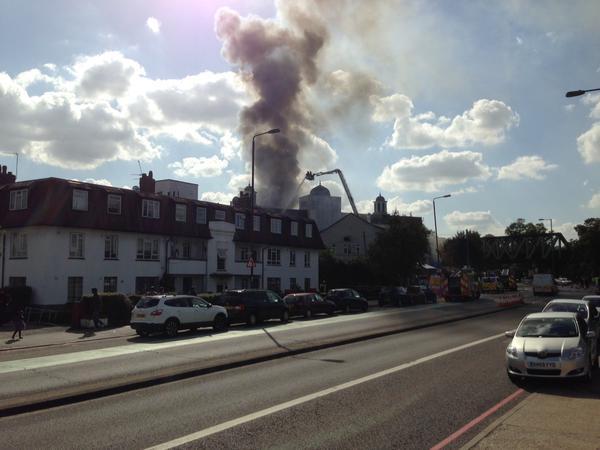 Morden mosque blaze