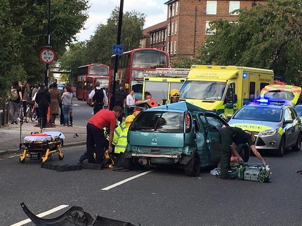 Brockley knife fight car crash