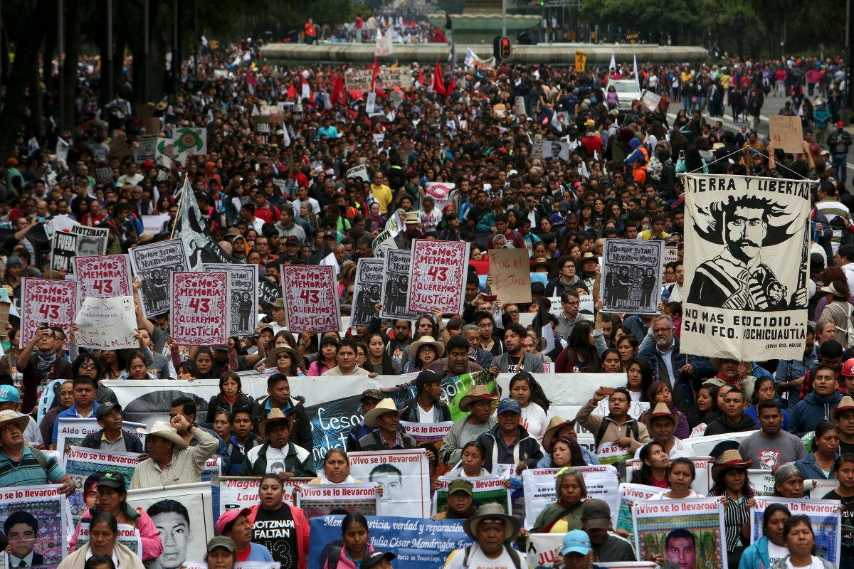 Mexico protests marking anniversary