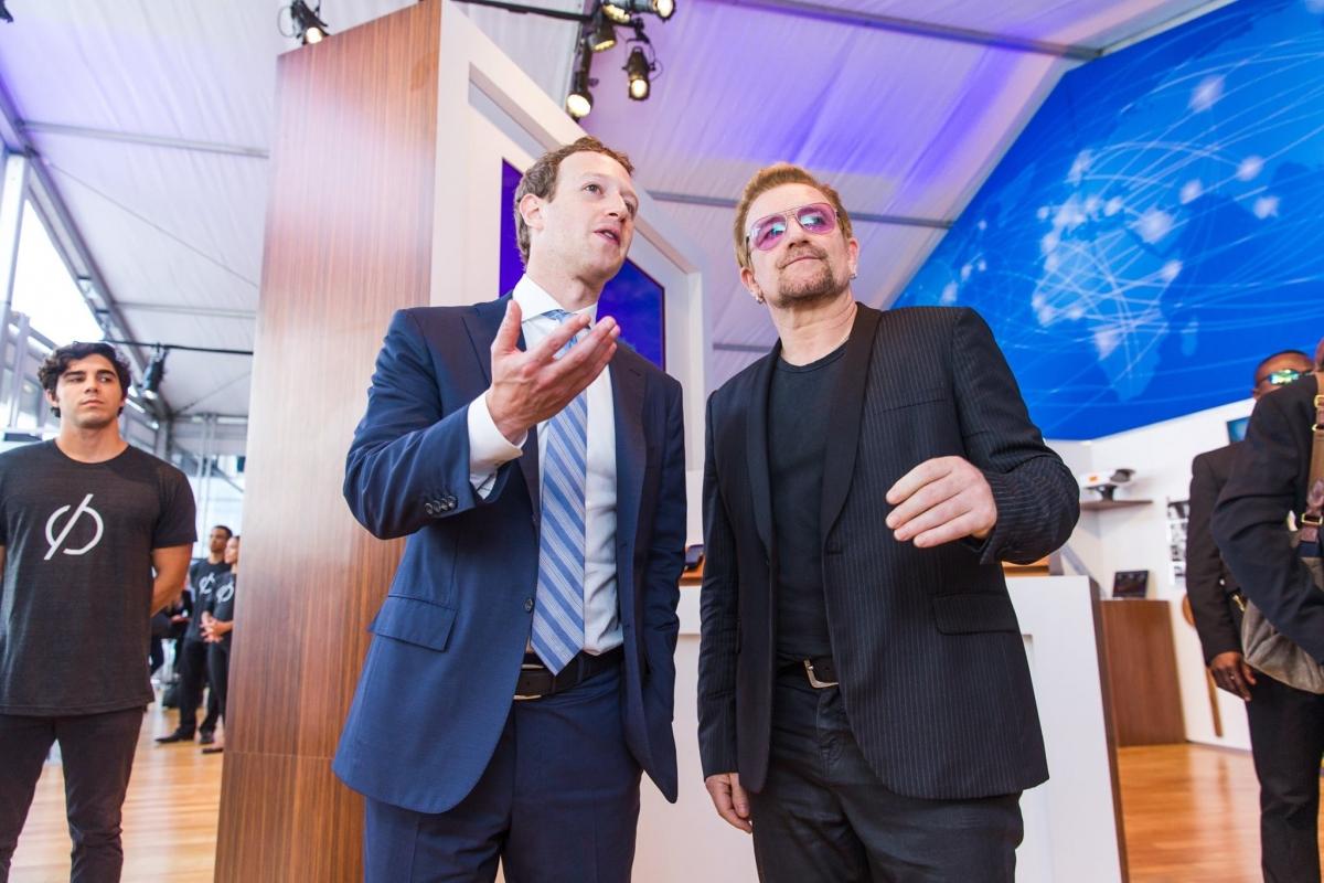 Mark Zuckerberg Bono Facebook