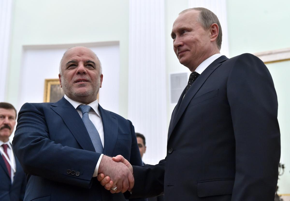 Iraqi Prime Minister Haider al-Abadi and Russian