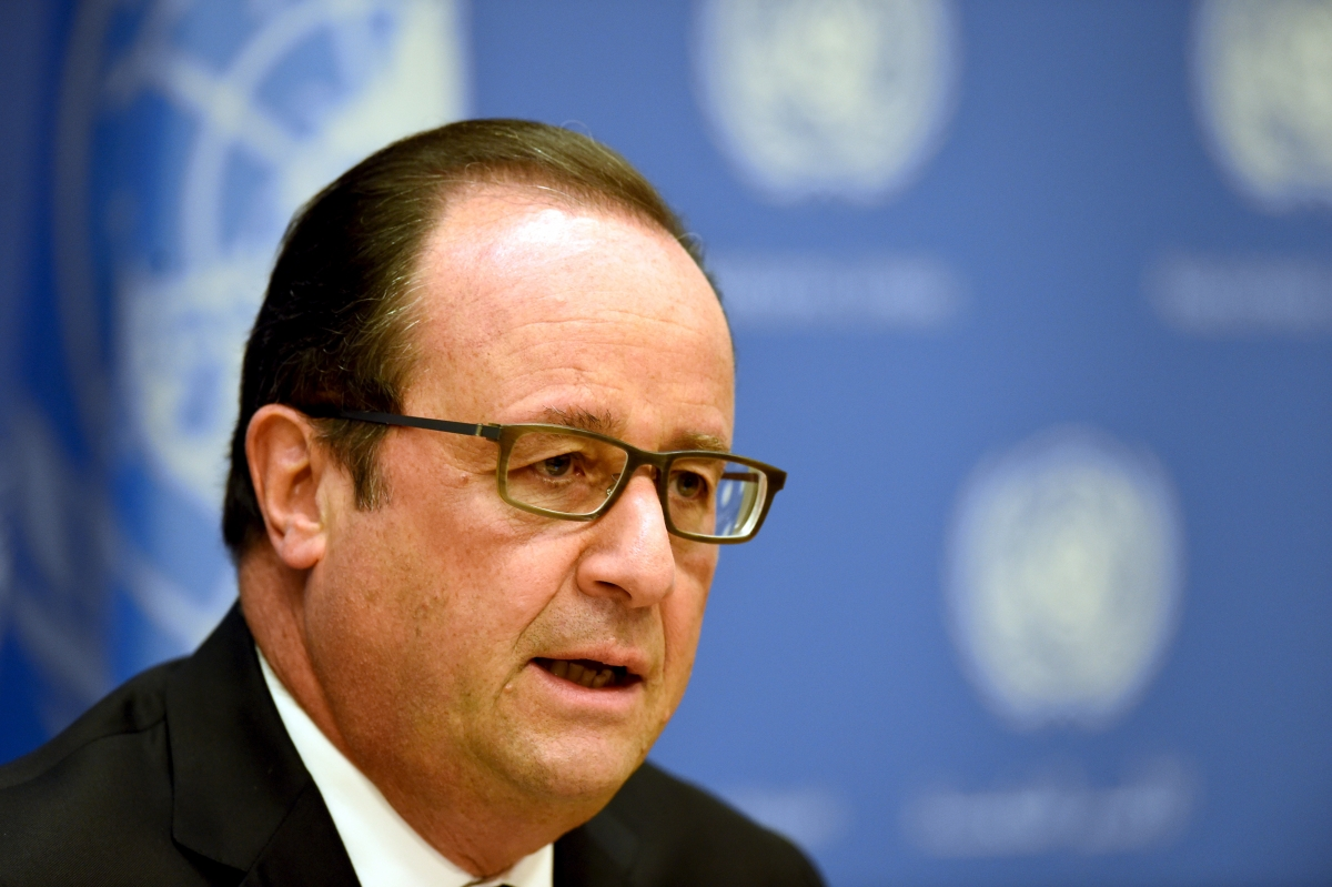 France President Hollande Syria Isis