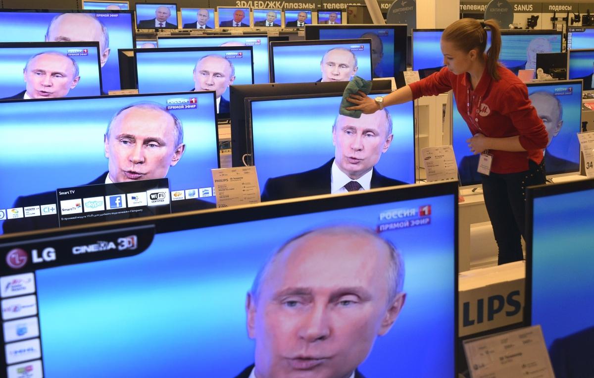 Vladimir Putin on the telly