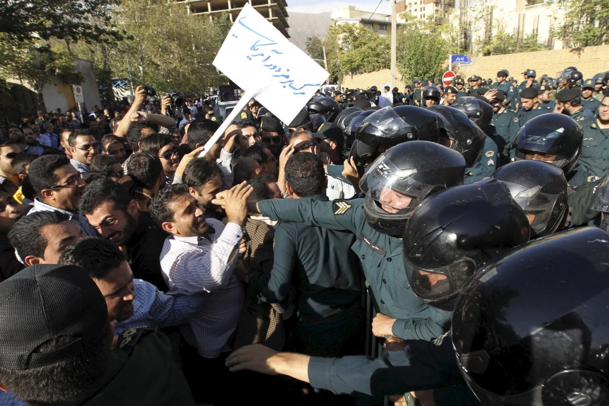 Iran protests against Saudi Arabia