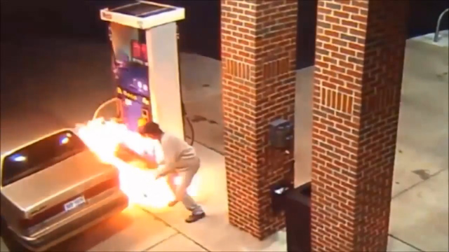 Petrol station fire