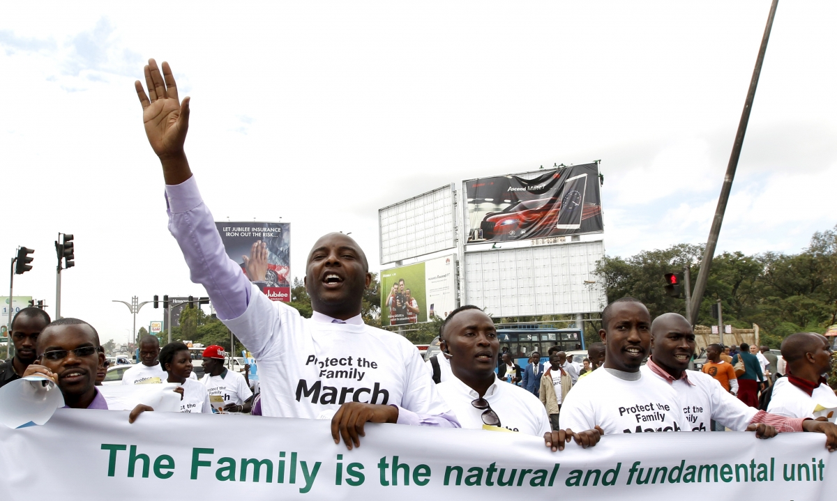 Anti homosexuality protest in Kenya