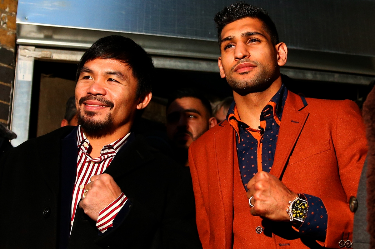 Manny Pacquiao and Amir Khan
