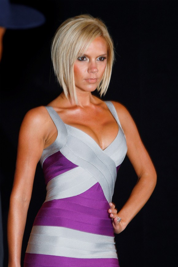 Entertainer Victoria Beckham arrives for the Marc Jacobs 2008 Spring collection show during New York Fashion Week