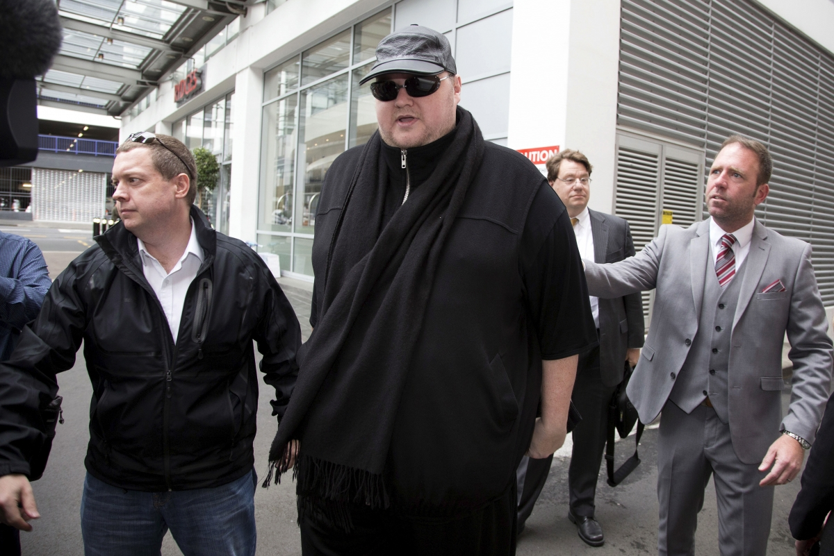 Kim Dotcom arrives for extradition court hearing