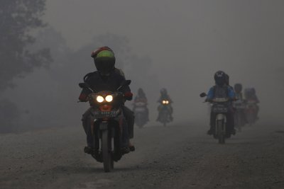 Indonesia forest-fire smoke haze