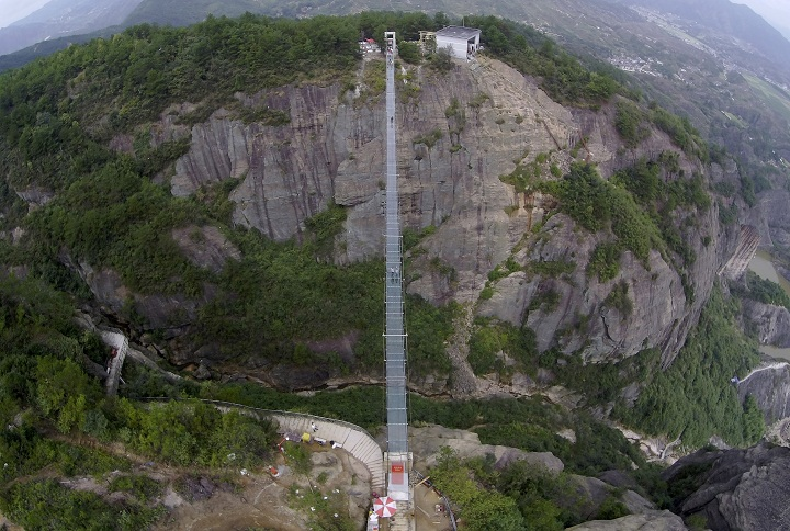 The 'Brave Men's Bridge' in China