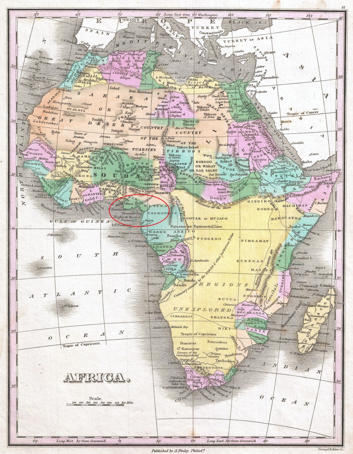 Africa Biafra map