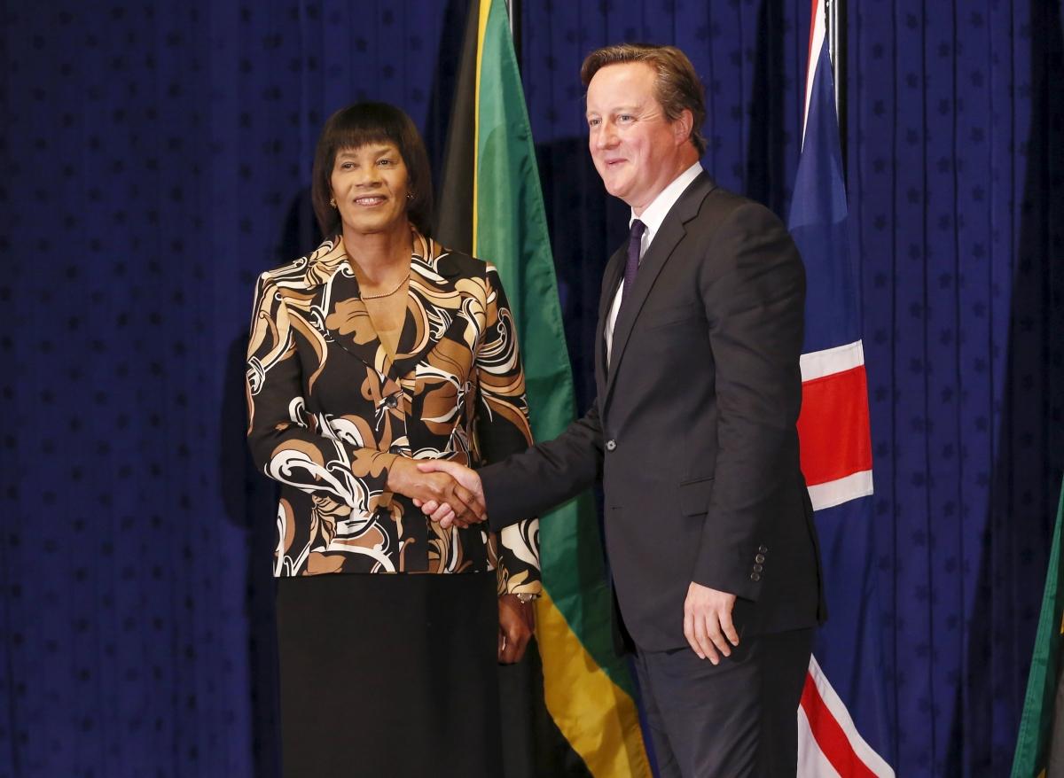 David Cameron in Jamaica