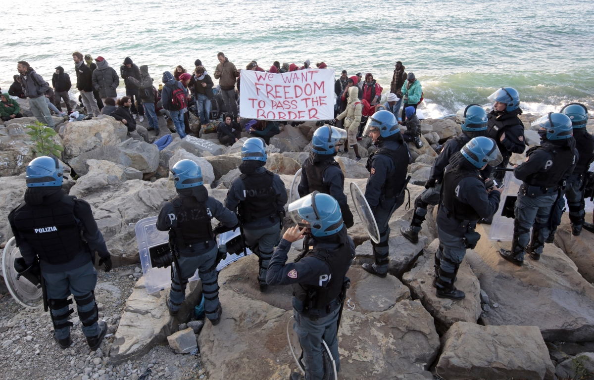 Italy France migrants border Ventimiglia