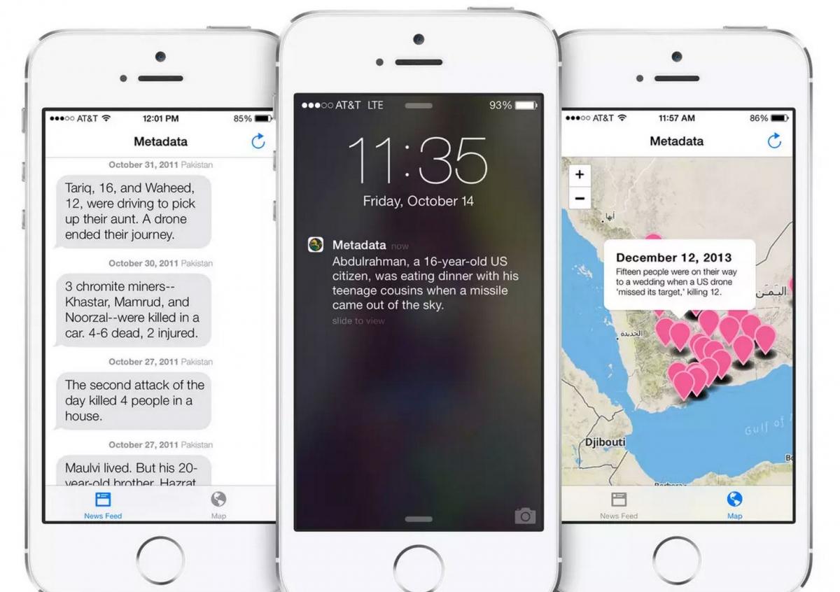 Metadata  drone strike app taken off AppStore