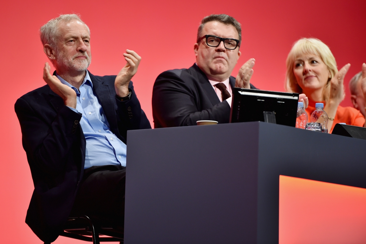 Tom Watson and Jeremy Corbyn Labour conference