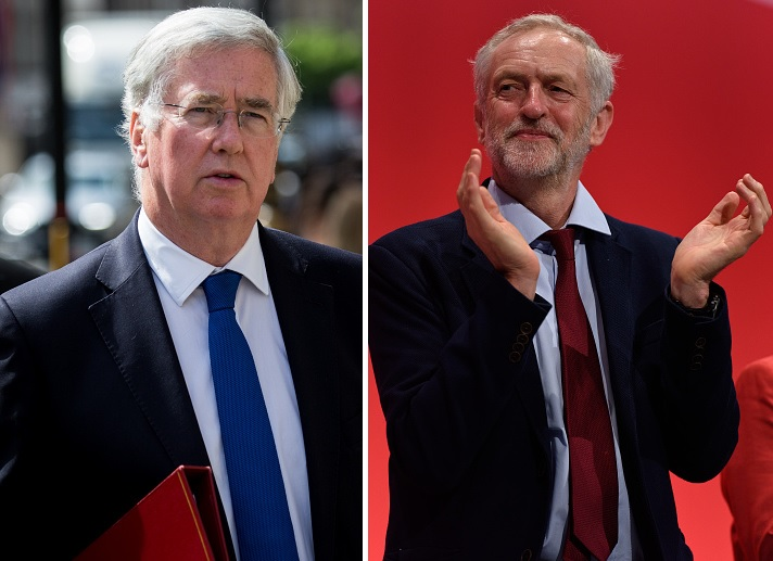 Michael Fallon and Jeremy Corbyn