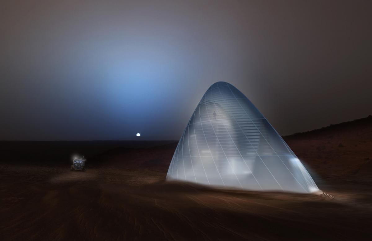 The Martian Ice House design concept