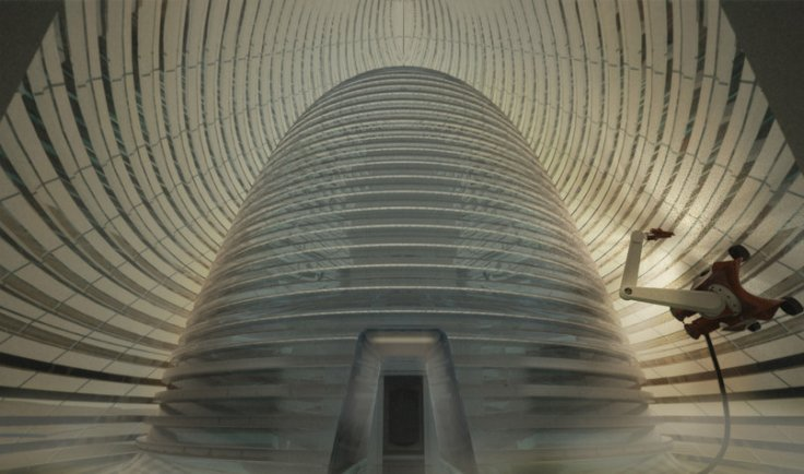 Inner cone of the Martian ice house