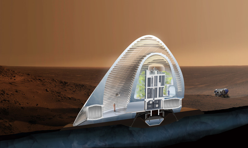 Inside the 3D printed Martian Ice House