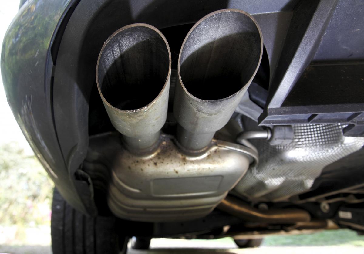 Exhaust system, VW Passat TDI diesel