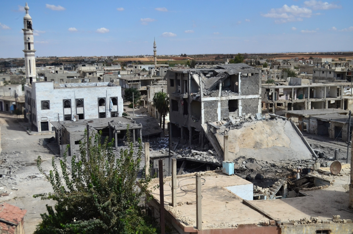Talbisseh hit by Russian jets in Homs