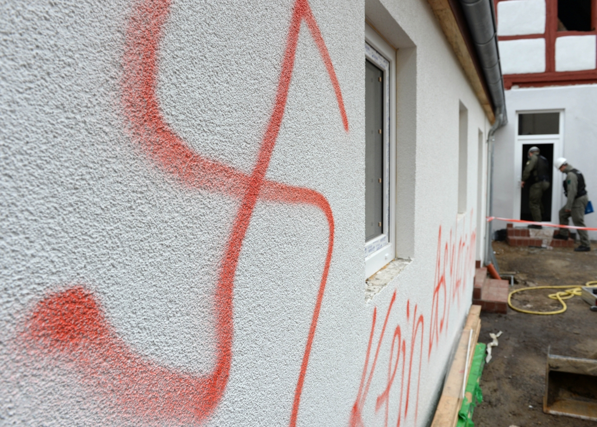 Swastika daubed on refugee accommodation in