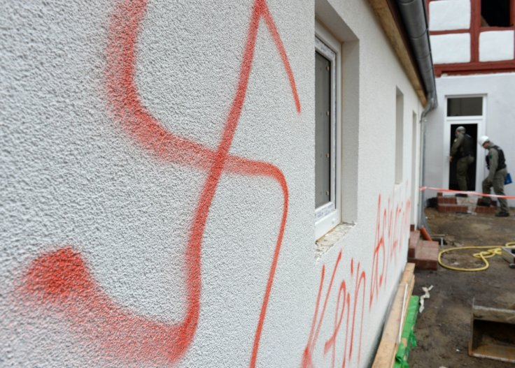 Swastika daubed on refugee accommodation in