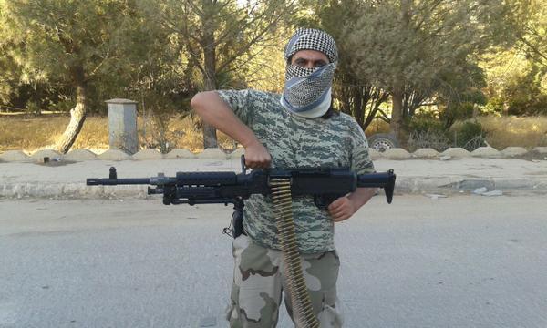 Al Nusra fighter with machine gun allegedly