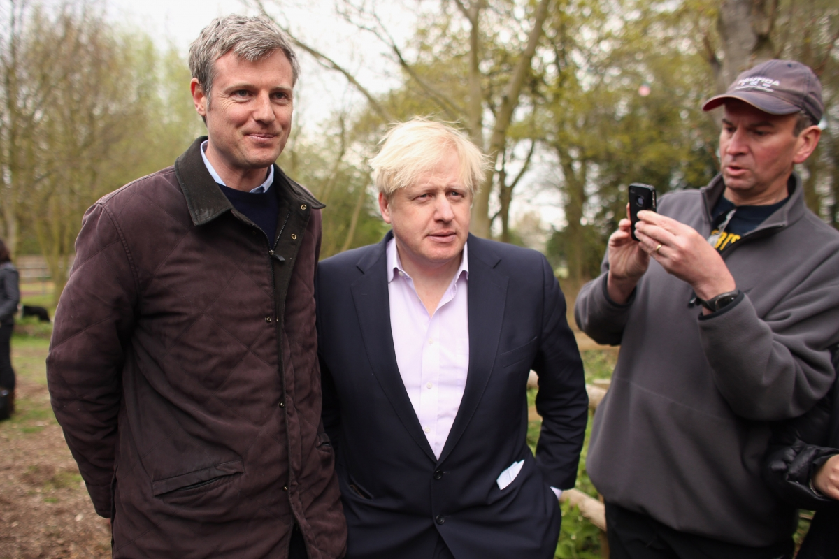 Goldsmith and Boris Johnson