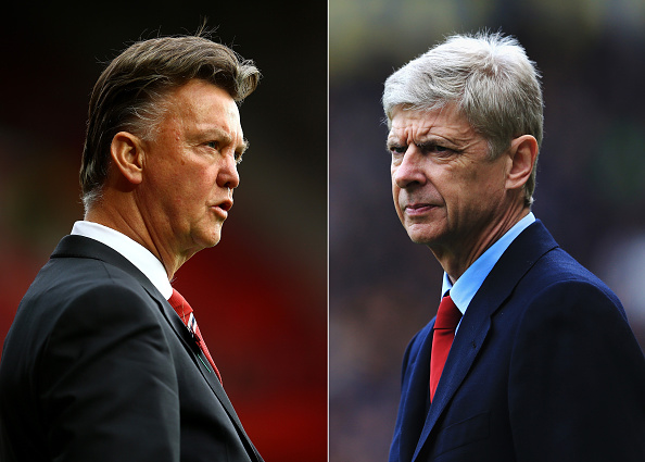 Louis van Gaal and Arsene Wenger