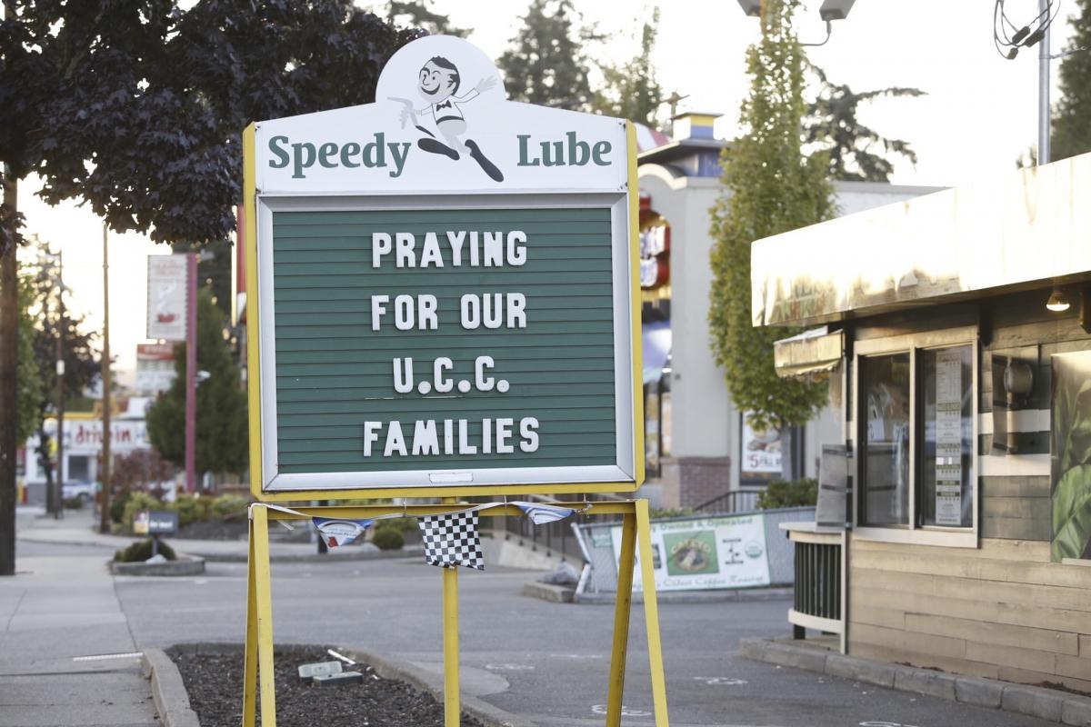 Oregon Shootings prayer public message