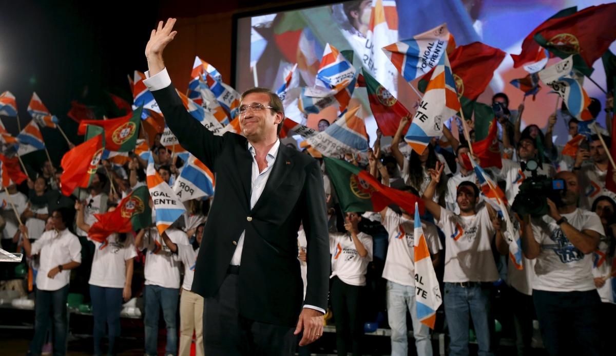 Portugal's Prime Minister Pedro Passos Coelho
