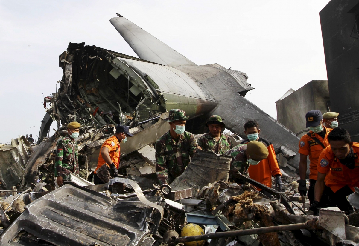 C-130 plane crash site, Medan