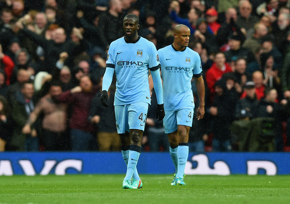 Vincent Kompany and Yaya Toure