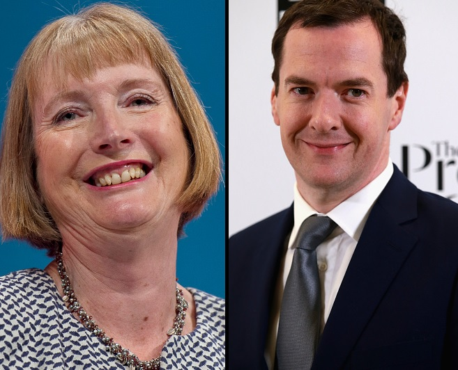 Harriet Harman and George Osborne